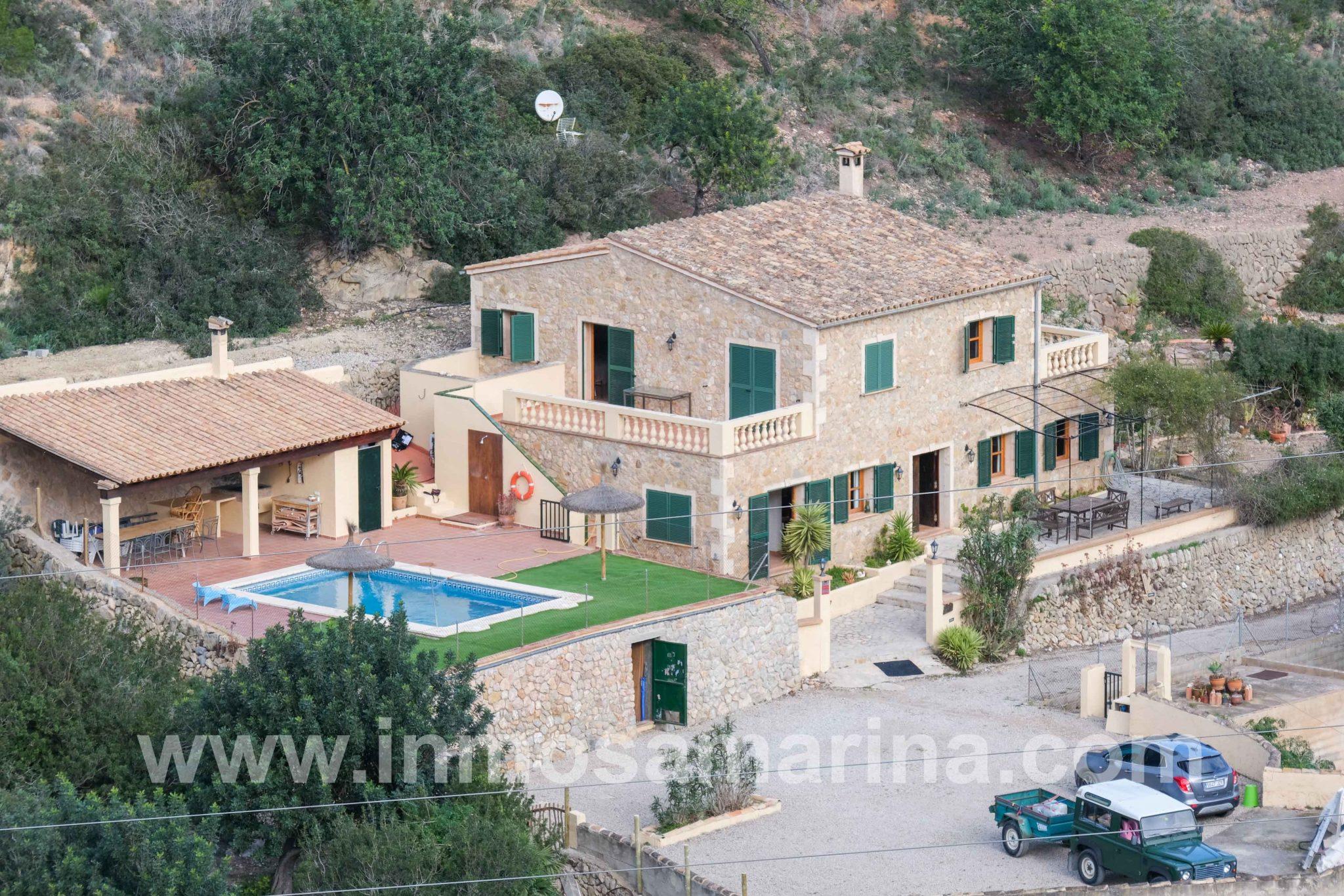 Chalet con piscina en la Sierra de Tramuntana, Sant Elm, Venta